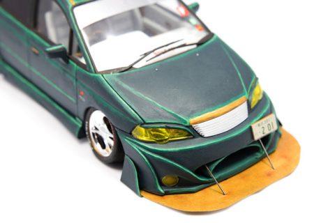 Detailaufnahme des Aoshima Honda Odyssey im Maßstab 1:24