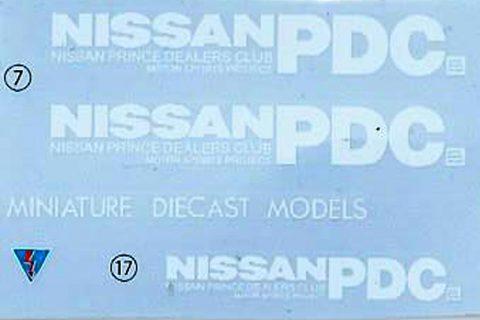 Decalbogen des Aoshima Nissan Skyline Plastikmodellbausatzes
