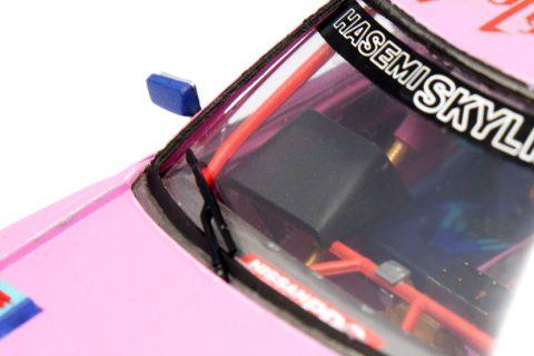 Detailaufnahme des Aoshima Nissan Skyline im Maßstab 1:24