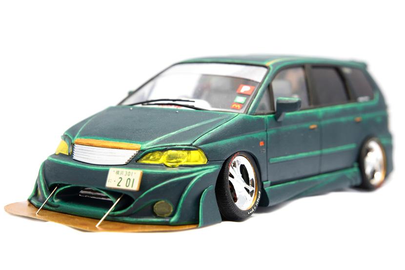 Aoshima Honda Odyssey RA6 - Bausatz 001929 - Baubericht auf modellbautest.de
