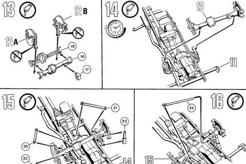 Auszug der Anleitung des Revell UNIMOG Bausatzes