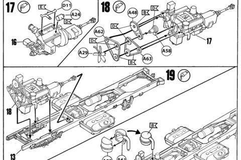 Auszug der Anleitung des Revell Zil-131 Bausatzes