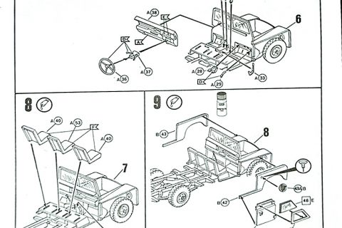 Auszug der Anleitung des Revell Series III Land Rover Bausatzes