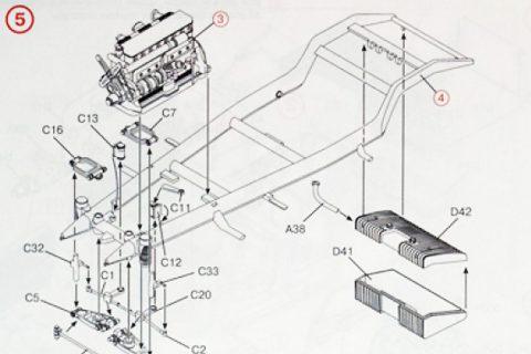 Auszug der Anleitung des ICM Mercedes 770K Bausatzes
