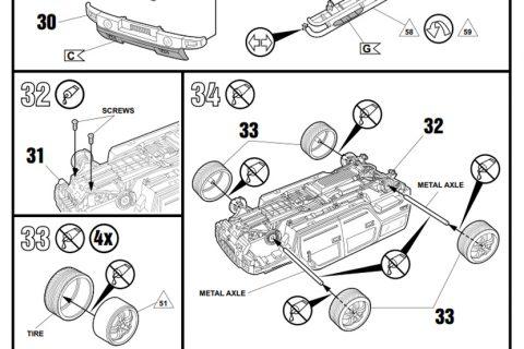 Auszug der Anleitung des Revell Hummer H2 Bausatzes