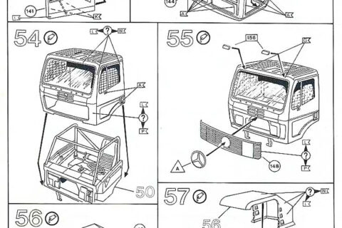 Auszug der Anleitung des Mercedes LS 1450 Racetruck Bausatzes