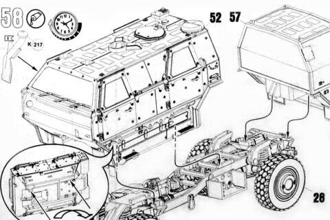 Auszug der Anleitung des Revell Dingo 2 Bausatzes
